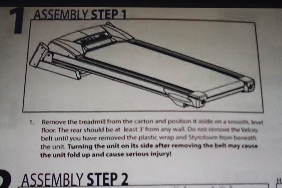 sole f80 treadmill assembly step 1