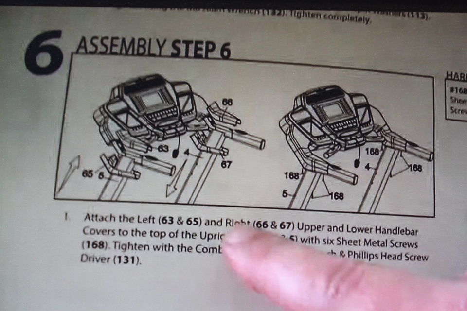 sole f80 treadmill assembly step 6