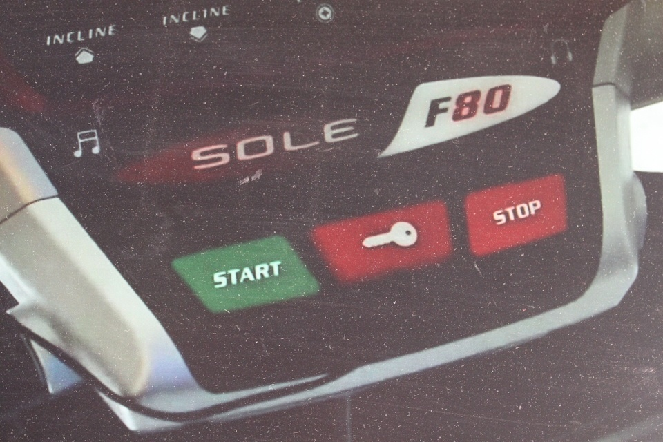 sole f80 treadmill start stop